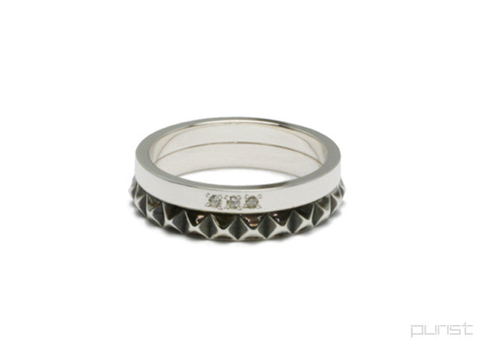 Studs Double Love Ring - M