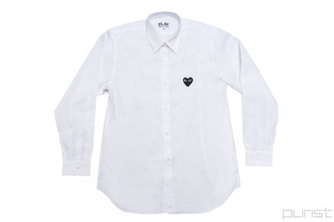 Black Heart White Dress Shirt