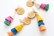 "Load image into Gallery viewer, ""See The Colour"" Tassel Keychain"
