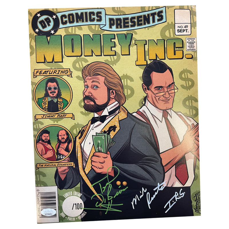 Money Inc - Autographed Comic Print