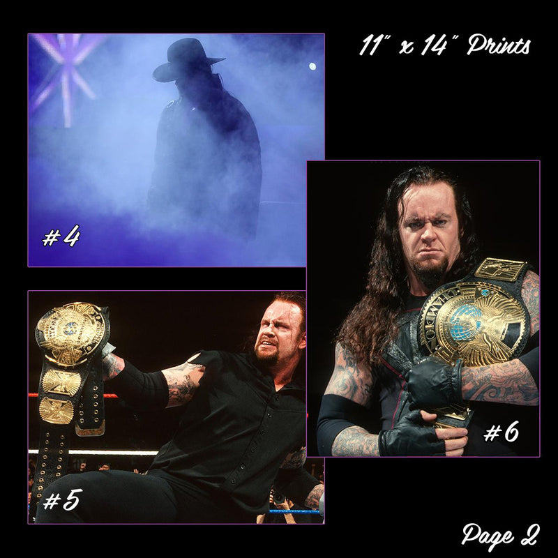 "The Undertaker Autographed 11"" x 14"" Print"