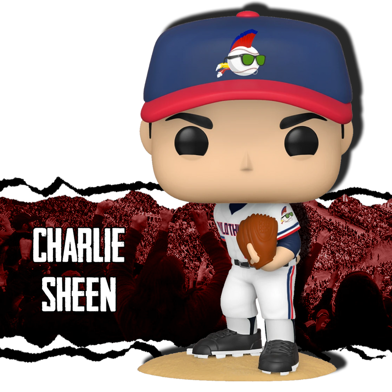 Ricky Vaughn - Charlie Sheen Autographed Funko