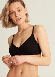 SOFT-BRA CORE TRIANGLE BRA- BLACK