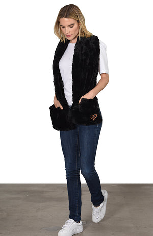 Chinchilla Bella Wrap Shawl Faux Fur