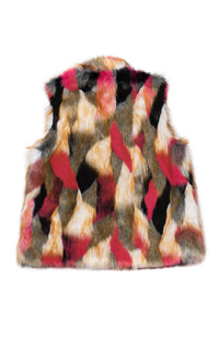Bear Vest 'Lost in the City' Faux Fur Soho Pink