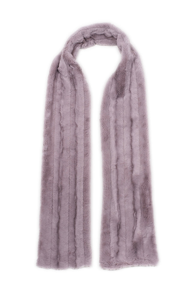Mink Scarf Faux Fur Chocolate