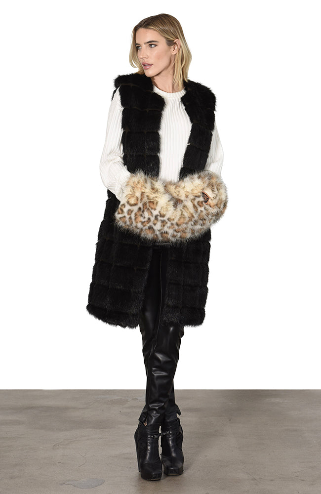 Tiger Muff Faux Fur