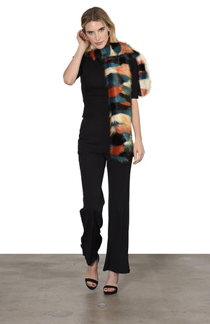Bear Scarf 'Lost in the City' Faux Fur