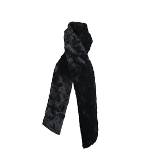 Chinchilla Bella Faux Fur Scarf Black Glamour Faux Addict