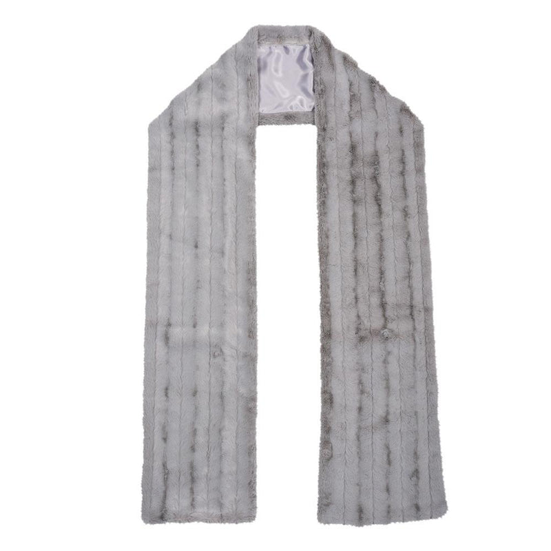 Chinchilla Bella Faux Fur Scarf Steel