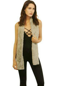 Chinchilla Bella Scarf Faux Fur Silver-Faux Addict