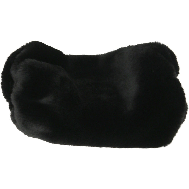 Chinchilla Fux Fur Muff Blackest - Faux Fur