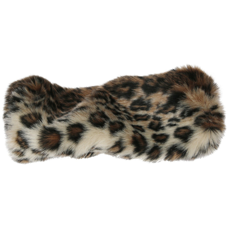 Chinchilla Fux Fur Muff Leopard - Faux Fur