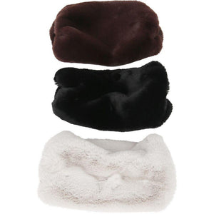 Chinchilla Faux Fur Muff Blackest-Faux Addict