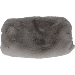 Chinchilla Faux Fur Muff Pewter - Faux Fur