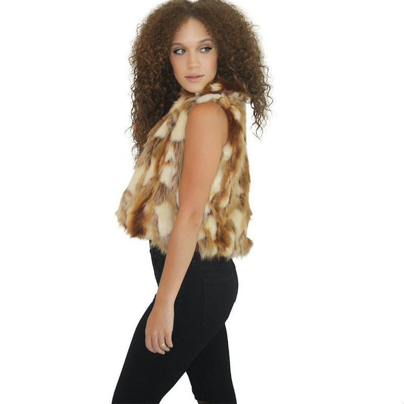 Fake fur vests