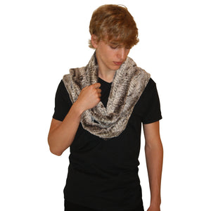 Crocodile Infinity Faux Fur Scarf River Mud-Faux Addict