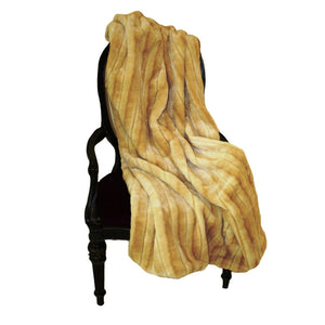 Faux Fur Throw - Beaver Lioness