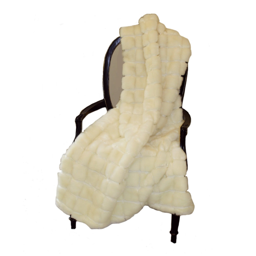 Faux Fur Throw - Mink Patchwork