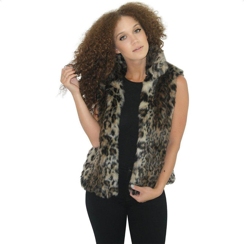 luxury faux fur Vests