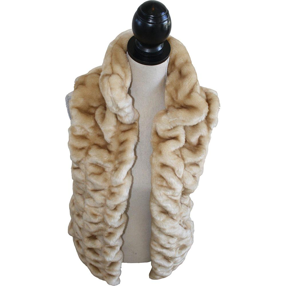 Luxe Chinchilla Vest Faux Fur Sahara