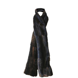 Mink Scarf Faux Fur Chocolate-Faux Addict