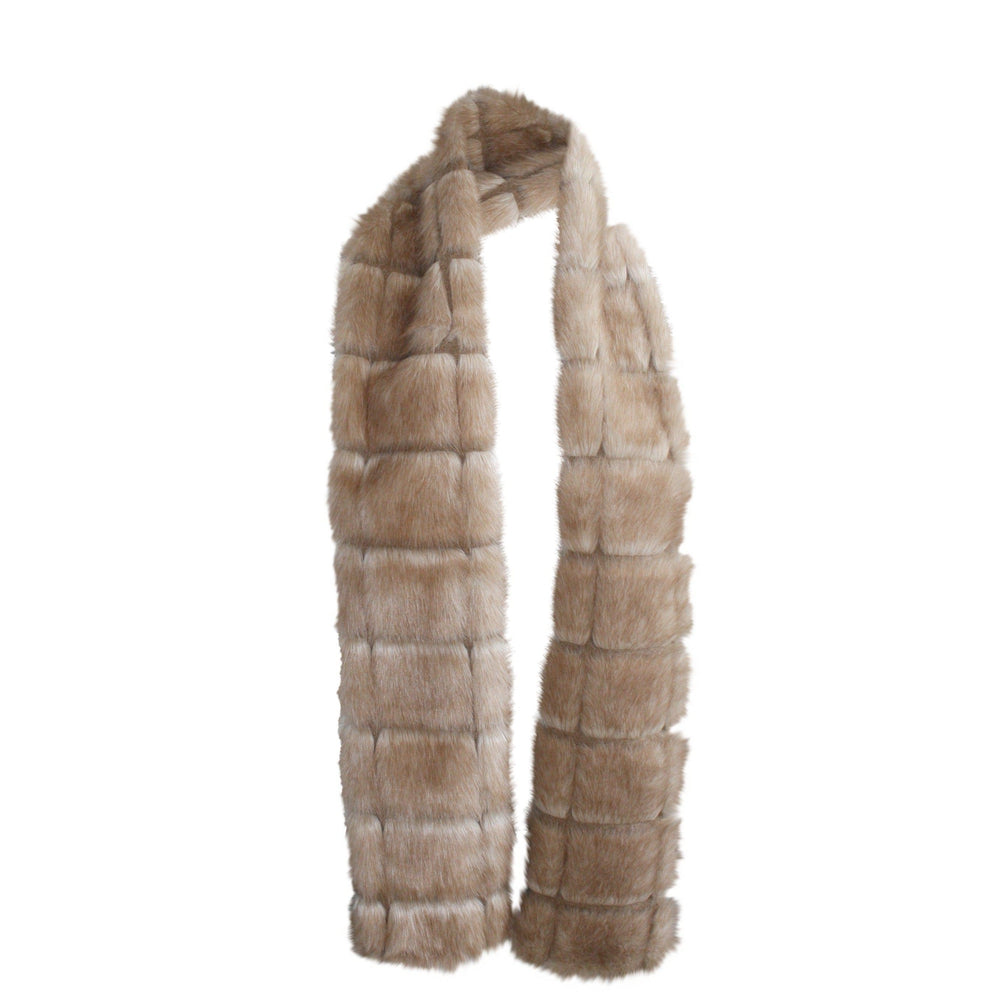 New York Scarf Faux Fur Café au Lait-Faux Addict