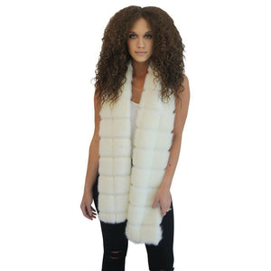 New York Scarf Faux Fur Cream & Sugar-Faux Addict