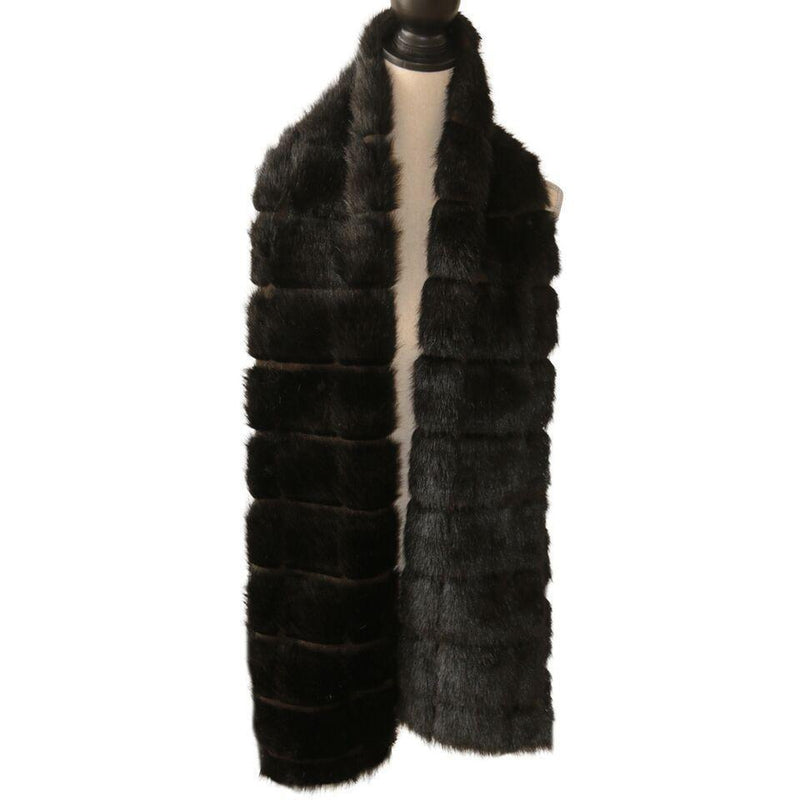 New York Scarf Faux Fur Black as Nite-Faux Addict