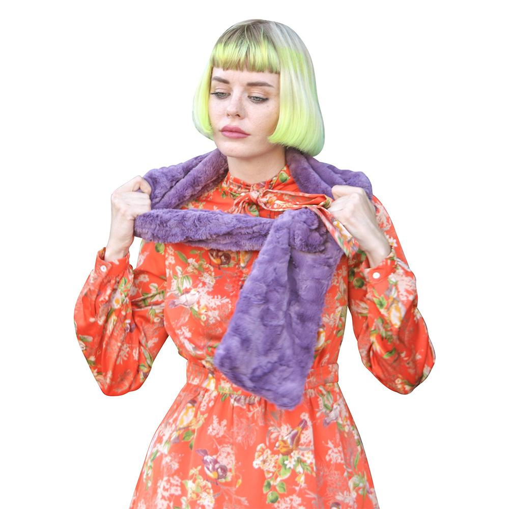 Pull Through Scarf Chinchilla Bella Violet