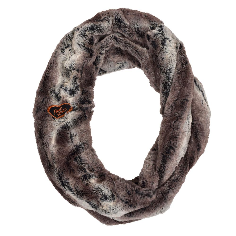 Python Infinity Faux Fur Scarf