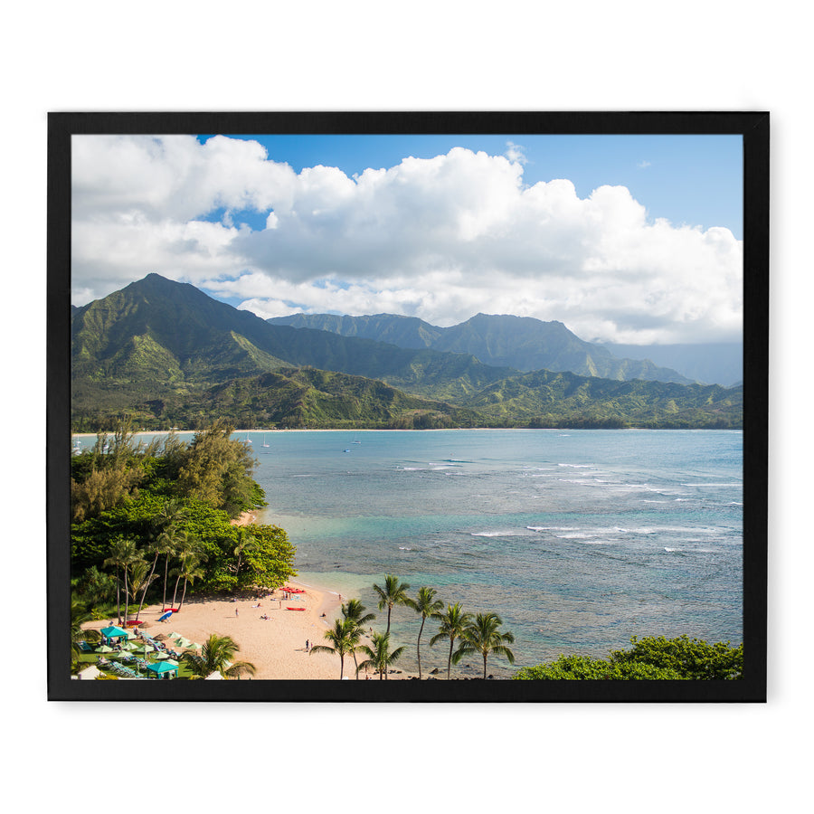 Hanalei Bay view from Princeville Resort Kauai for sale by local artisans.