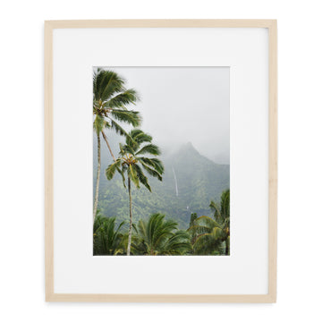Hanalei mountains framed landscape print of Hawaii for wall art