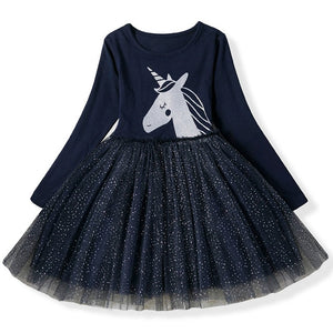 Unicorn Dress for Girls (3-8 Years)