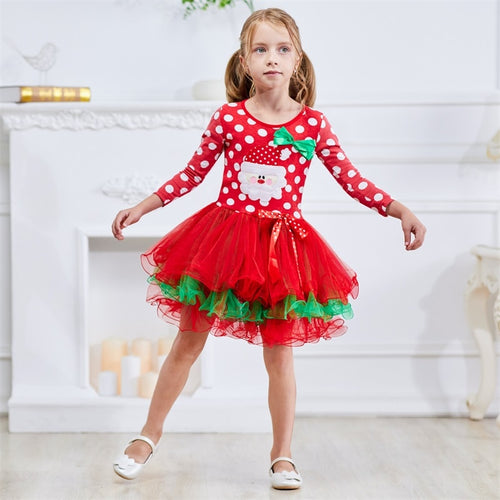Baby Girl Christmas Clothes Princess Dress For 2-7Yrs