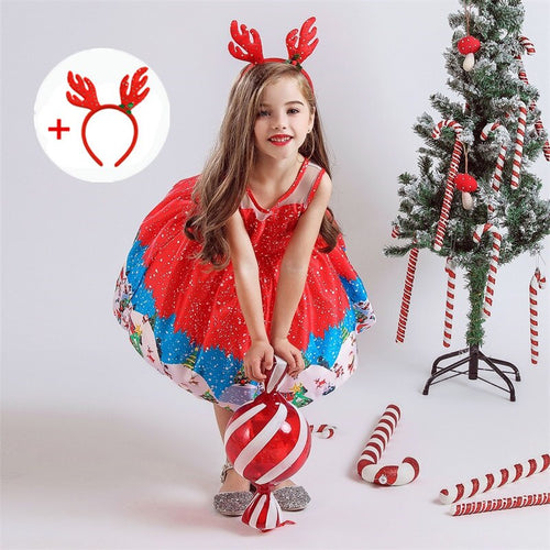 Christmas Party Costume Dress For Girls