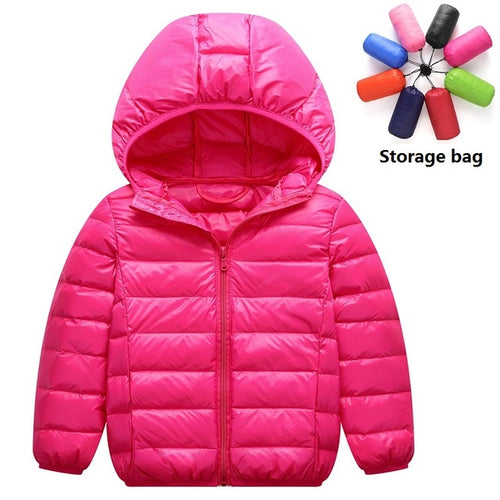 (1-14 years) light children's hooded down jacket
