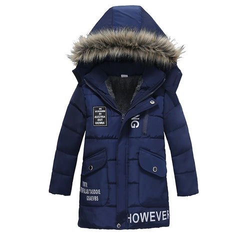 Fur Collar Child Coat For 3-6 Years Old