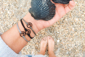 Black Ocean Wave Bracelet Set - Save-TheSeas