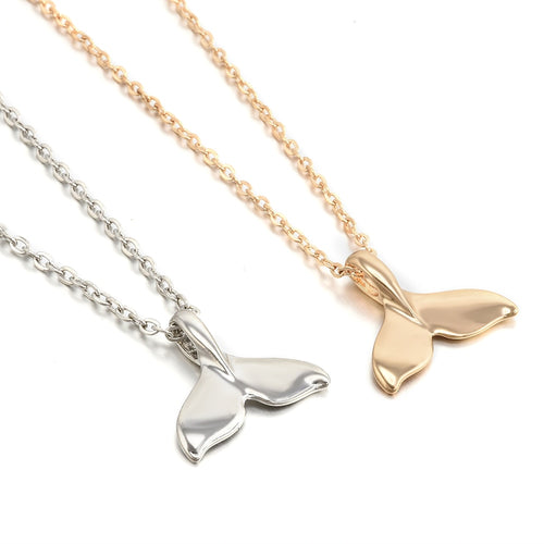 Gold or Sterling Silver whale necklace - Save-TheSeas