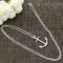 Load image into Gallery viewer, Silver Anchor Necklace - Save-TheSeas