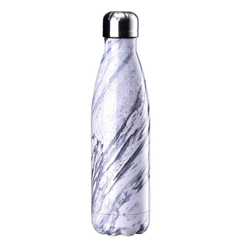 Marble Reusable Stainless Steel Metal Drinking Bottles - Save-TheSeas