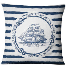 Load image into Gallery viewer, Nautical Cushion Covers - Save-TheSeas
