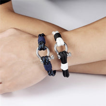 Load image into Gallery viewer, Double Shackle Nautical Bracelet - Save-TheSeas
