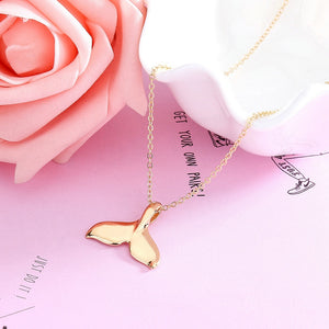 Gold or Silver whale necklace - Save-TheSeas