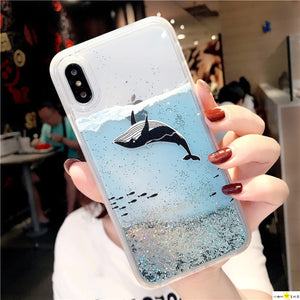 Transparent Glitter iPhone Case - Save-TheSeas