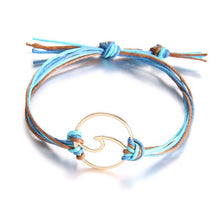 Load image into Gallery viewer, Save The Ocean Gold Wave Charm Bracelets - Save-TheSeas