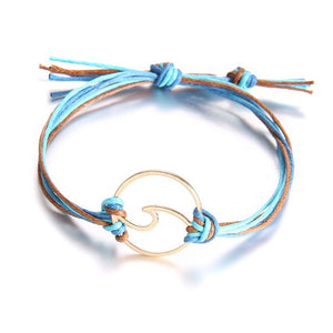 Save The Ocean Gold Wave Charm Bracelets - Save-TheSeas