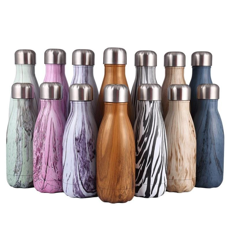 Reusable Oak Design Stainless Steel Drinking Bottles - Save-TheSeas