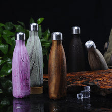 Load image into Gallery viewer, Reusable Oak Design Stainless Steel Drinking Bottles - Save-TheSeas